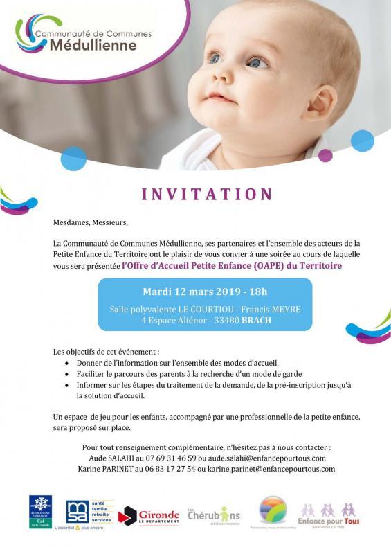 Invitation soiree oape