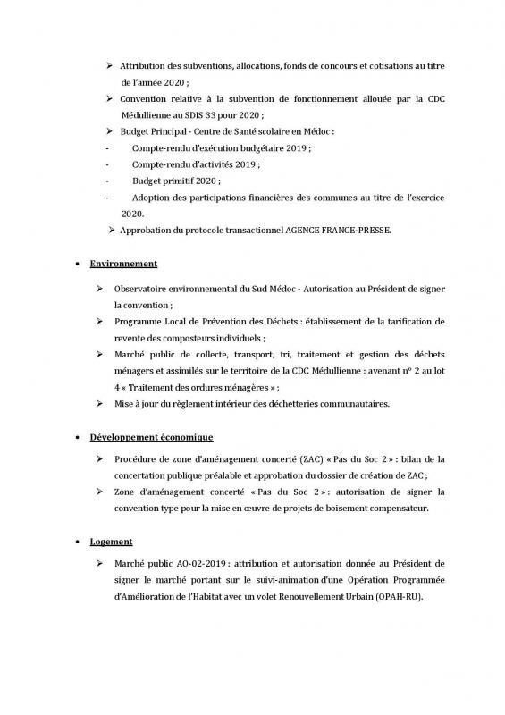 Ordre du jour conseil affichage page 002