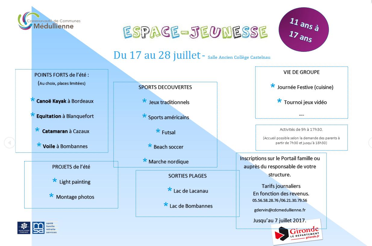 Programme EJ 17 au 28 juillet CASTELNAU