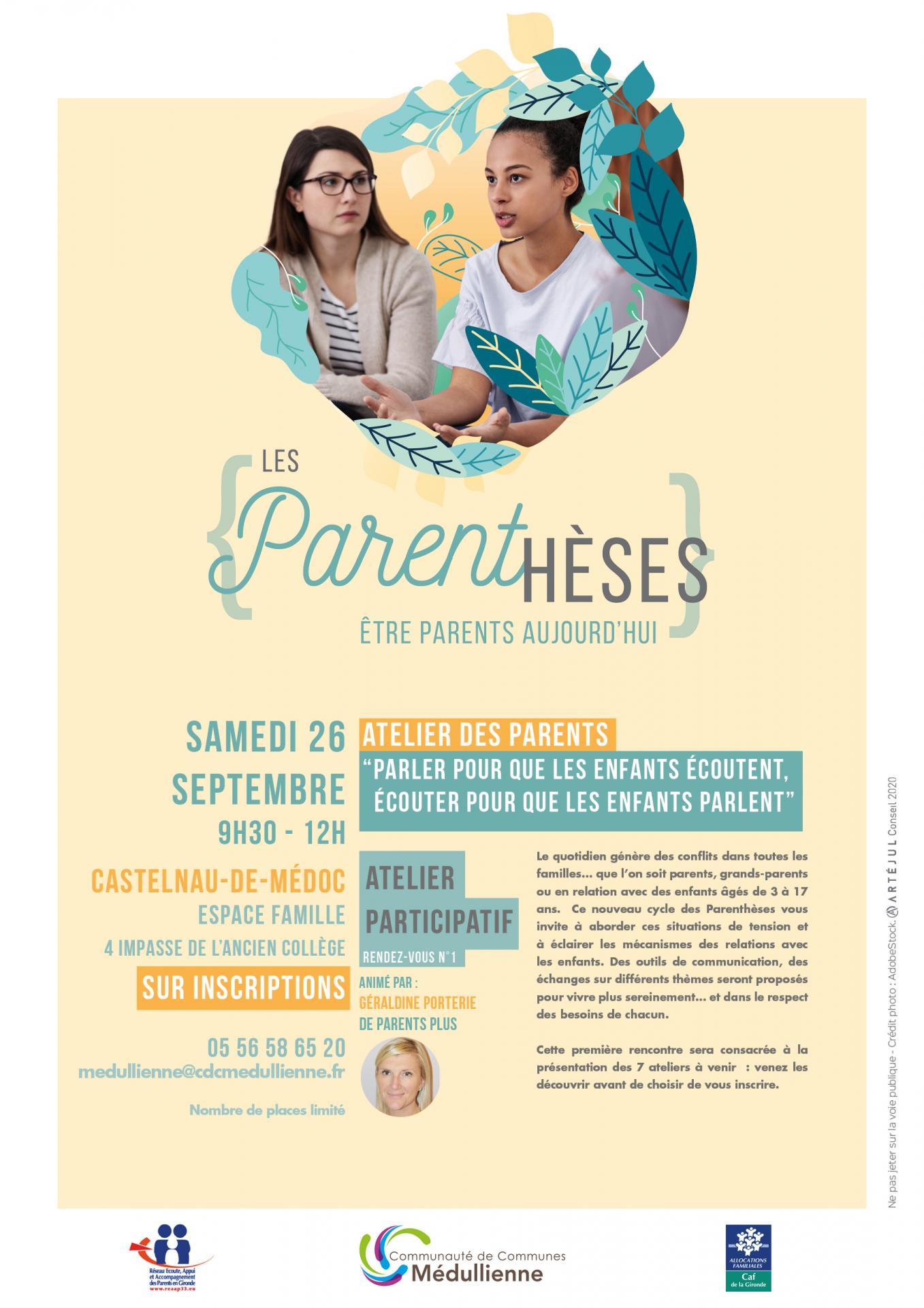 Ateliers parents 26 sept