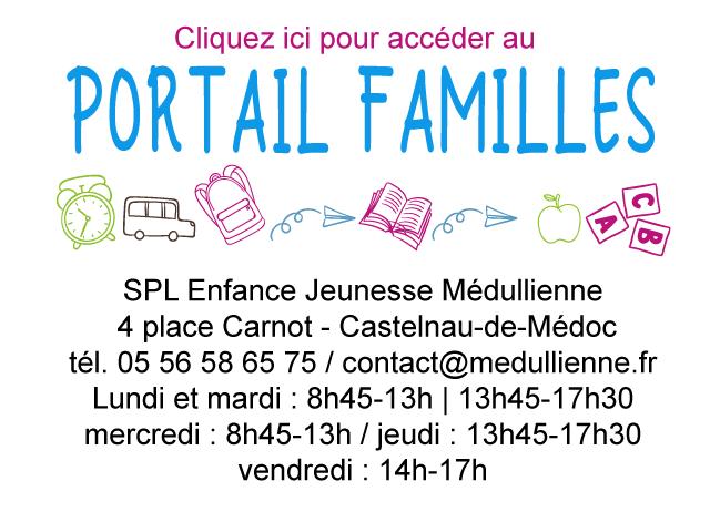 Visuel portail familles site internet